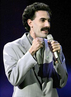 Sasha Cohen as Borat