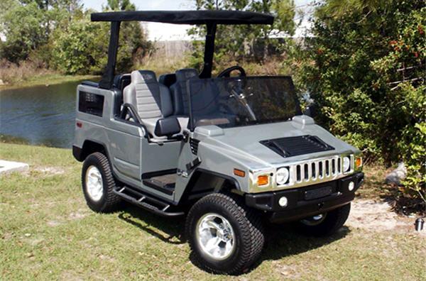 H2 Hummer golf cart